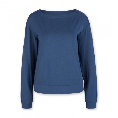 Weiches langärmeliges Shirt | Blau