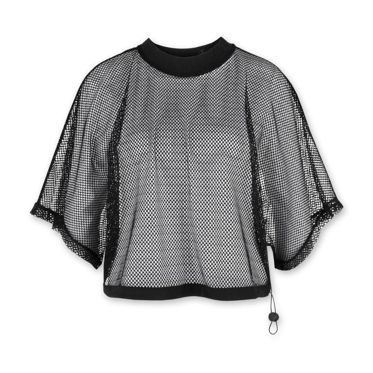 Damen-T-Shirt aus Mesh | Schwarz