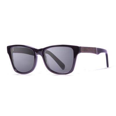 Sonnenbrille London   Schwarz + glänzend schwarzes Gestell