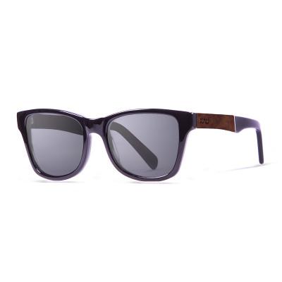 Sonnenbrille London   Schwarz + glänzendes Schwarz & Rüsterrahmen
