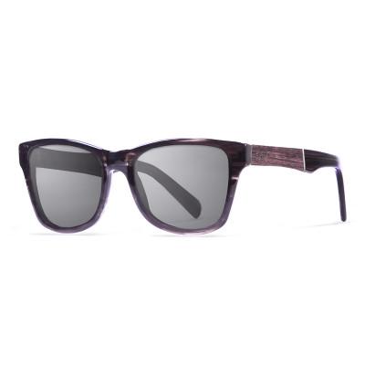 Sonnenbrille London   Schwarz + Graues Gestell