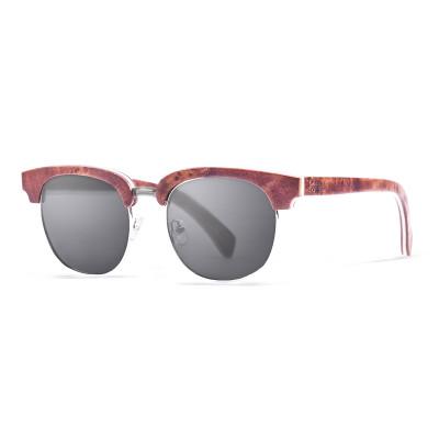 Sonnenbrille New York   Schwarz + Braunes Gestell