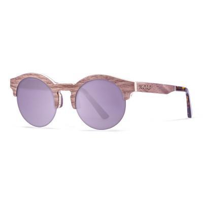 Sonnenbrille Hongkong   Blau + Braunes Gestell