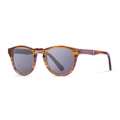 Sonnenbrille Florencia   Schwarz + Brauner Rahmen