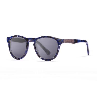 Sonnenbrille Florencia   Schwarz + Schwarz & Blaues Gestell
