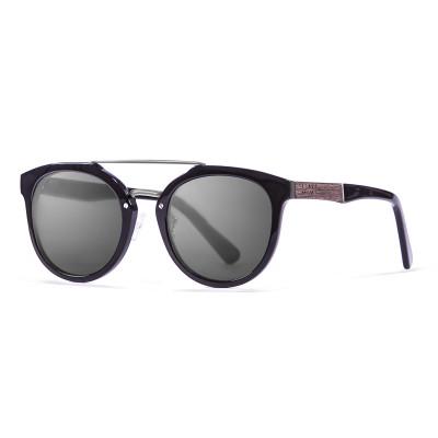 Sonnenbrille San Francisco   Schwarz + glänzend schwarzes Gestell