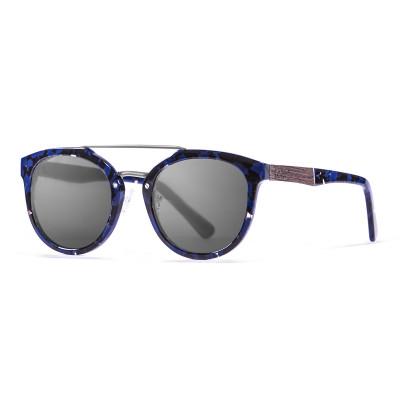 Sonnenbrille San Francisco   Schwarz + Schwarz & Blaues Gestell