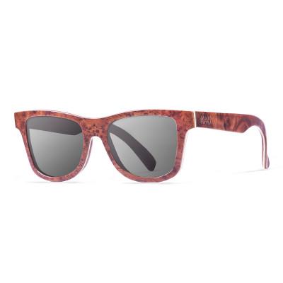 Sonnenbrille Washington   Schwarz + dunkelbraunes Gestell