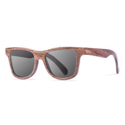 Sonnenbrille Washington   Schwarz + Naturrahmen