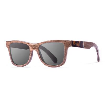 Sonnenbrille Washington   Schwarz + Braun & Acetatrahmen