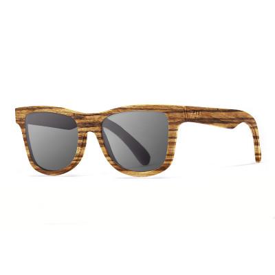 Sonnenbrille Washington   Schwarz + Brauner Rahmen