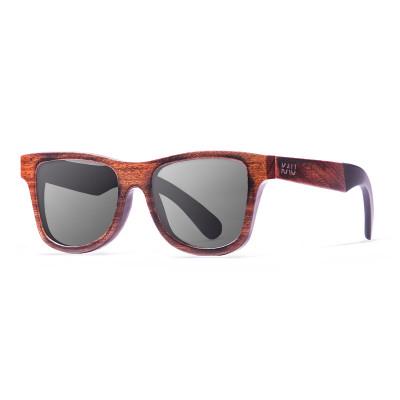 Sonnenbrille Washington   Schwarz + Dunkelbraun & Acetatrahmen