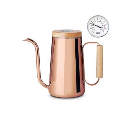 Wasserkessel mit Thermometer 800 ml | Kupfer