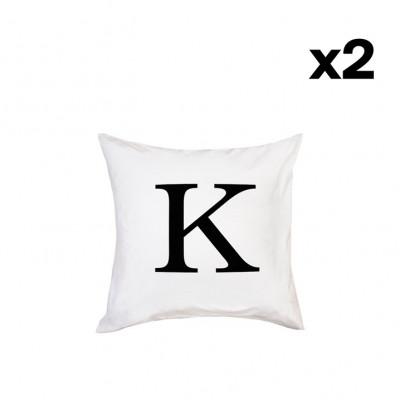 2er-Set Kissenbezügen | K