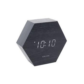 Alarm Clock Hexagon | Black Veneer
