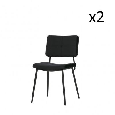 Esszimmerstuhl Kaat | 2er-Set | Schwarz
