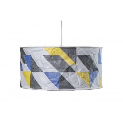 Rhombworks Lampenschirm | Blau & Gelb