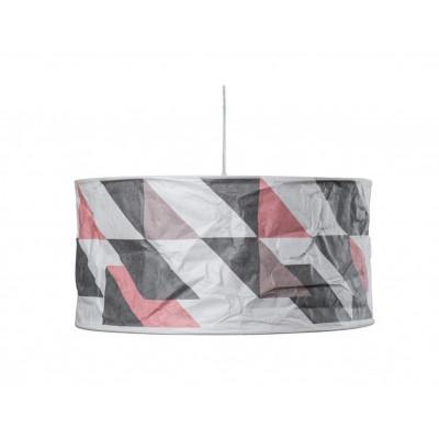 Rhombworks Lampenschirm | Rot & Grau