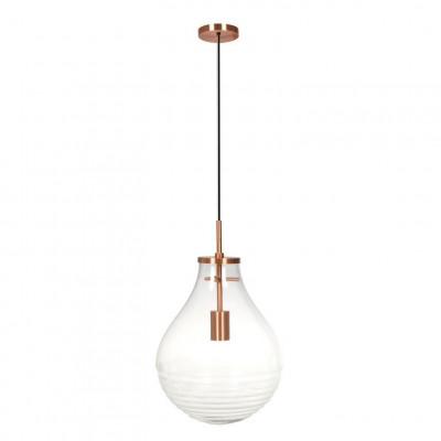 Pendant Lamp Kajam | Transparent/Copper