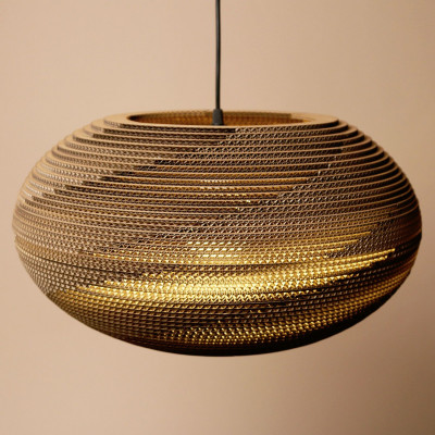 Lampenschirm aus Karton   Oval
