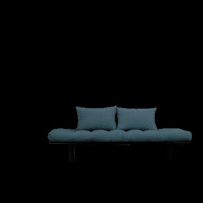 Tagesbett Pace | Schwarzer Rahmen + tiefblaue Matratze