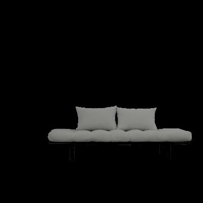 Tagesbett Pace | Schwarzer Rahmen + graue Matratze
