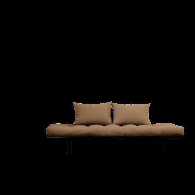 Tagesbett Pace | Schwarzer Rahmen + Mocca-Matratze