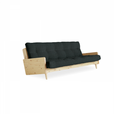 Sofabed Indie | Natural Frame + Slate Grey Mattress