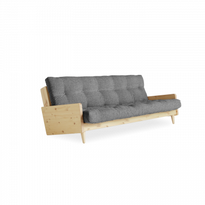 Sofabed Indie | Natural Frame + Granite Grey Mattress