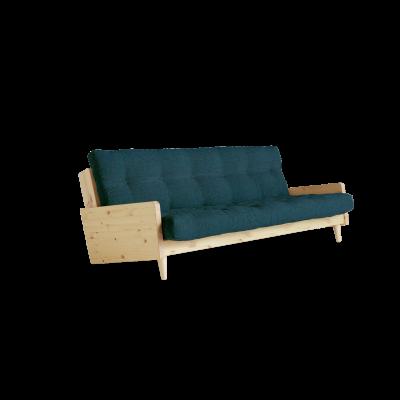 Sofabed Indie | Natural Frame + Deep Blue Mattress