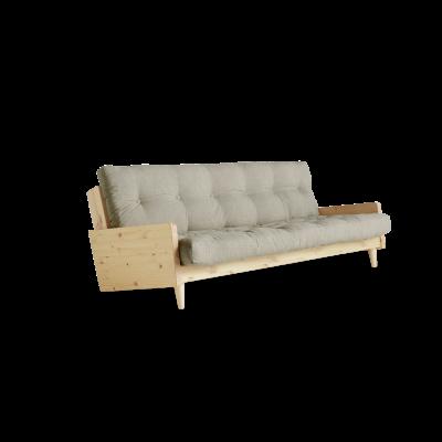 Sofabed Indie | Natural Frame + Linen Mattress