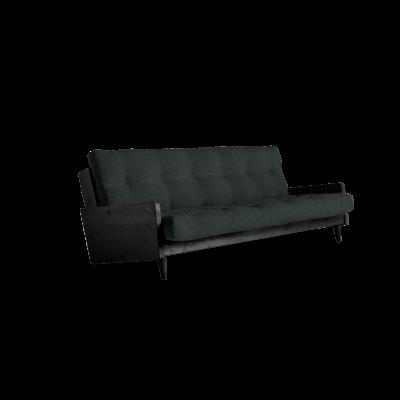 Sofabett Indie | Schwarzer Rahmen + schiefergraue Matratze