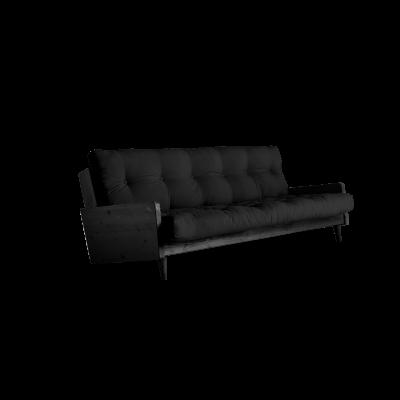 Sofabett Indie | Schwarzer Rahmen + dunkelgraue Matratze
