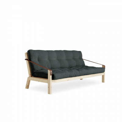Sofabed Poetry | Natural Frame + Slate Grey Mattress