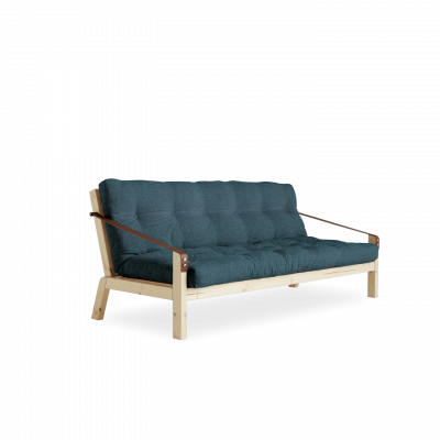 Sofabed Poetry | Natural Frame + Deep Blue Mattress