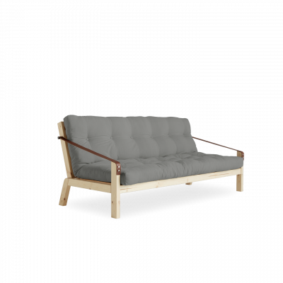 Sofabed Poetry | Natural Frame + Grey Mattress