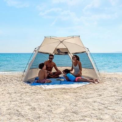 Beach Shader 4 Pers Kau Kohu Plus   Brown