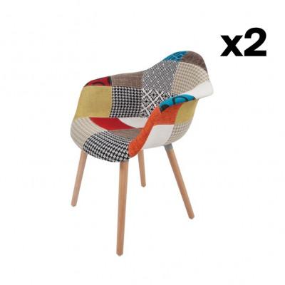 Stuhl Dylan 222 2-er Set | Multicolour