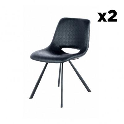 Stuhl Hagga 2er-Set | Schwarz