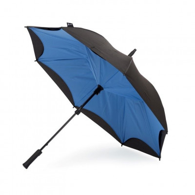Cornflower Blue & Black Umbrella   Straight