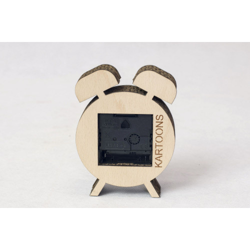 Cardboard Clock | Moustache