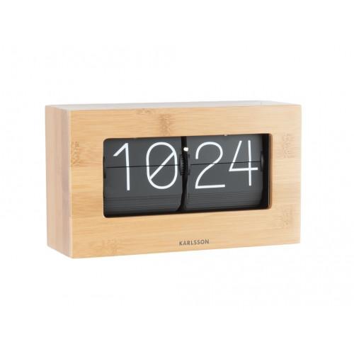 Uhr Boxed Flip   Bambus