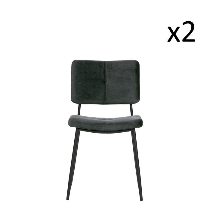 Esszimmerstuhl Kaat | 2er-Set | Anthrazit