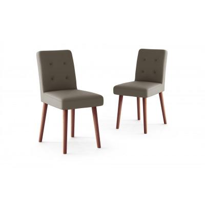 2er-Set Stühle HARING Samt | Taupe