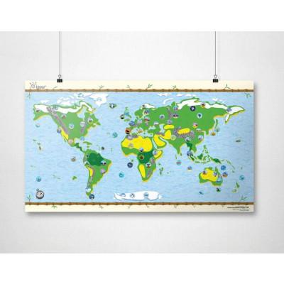 Wiederbeschreibbare Weltkarte   Kids-Karte