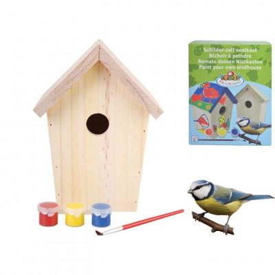 DIY Vogelhaus mit Farbe