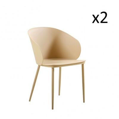 Stühle Dalis 2er-Set   Khaki