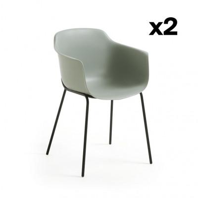 2er Set Stühle Khasumi   Grau