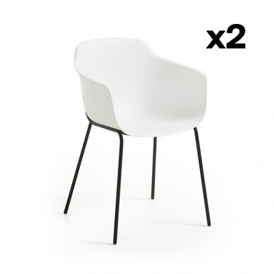 2er Set Stühle Khasumi   Weiß
