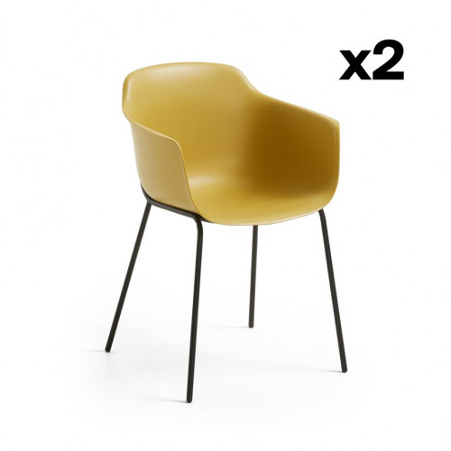 Set of 2 Chairs Khasumi | Mustard